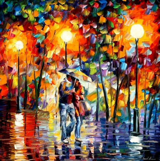 """ My heart is completely open to art. Thus, I enjoy creating inspired and beautiful paintings from the bottom of my soul. Each of my artworks reflects my feelings, sensitivity, passion, and the music from my soul. True art is alive and inspired by humanity. I believe that art helps us to be free from aggression and depression."" Leonid-Afremov"