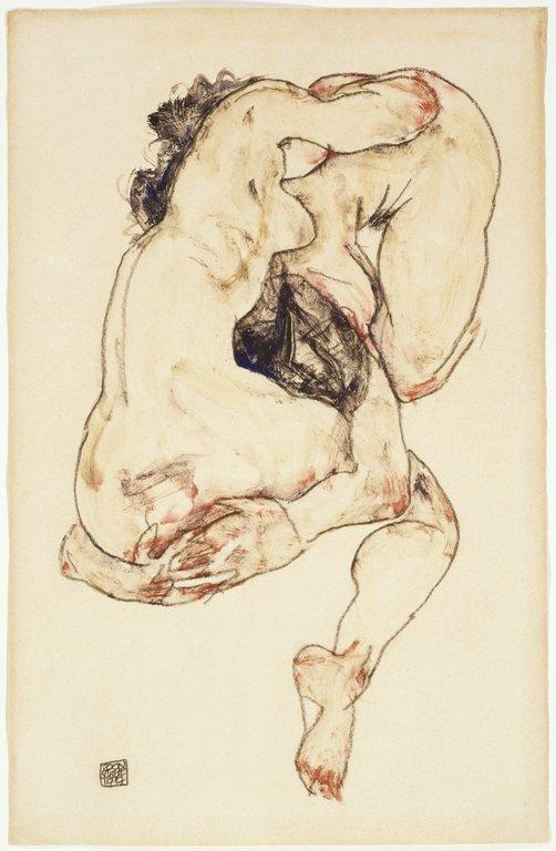 Duas figuras-por Egon Schiele, 1911