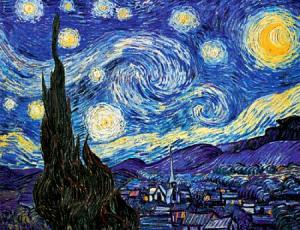 Starry night, by van Gogh. (Acn you see the hippocampus?)