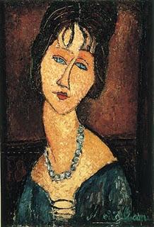 O pintor Modigliani representa a mulher de forma sintética e simplificada
