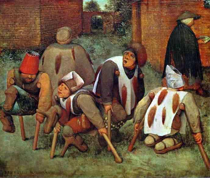 Os aleijados-por Peter Brueghel-o velho.