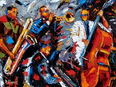 Jazz painting art music by debra Hurd