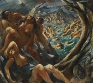 Die Flut bei Jakob Steinhardt 1912