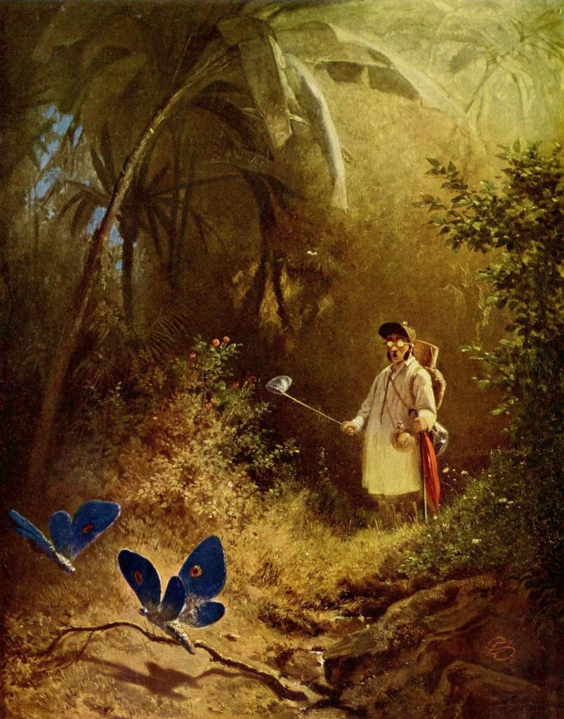 O caçador de borboletas-por Carl_Spitzweg