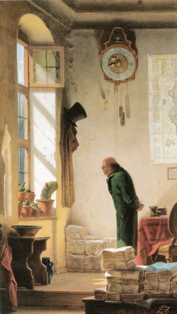 Um apreciador de cactos-por Carl_Spitzweg