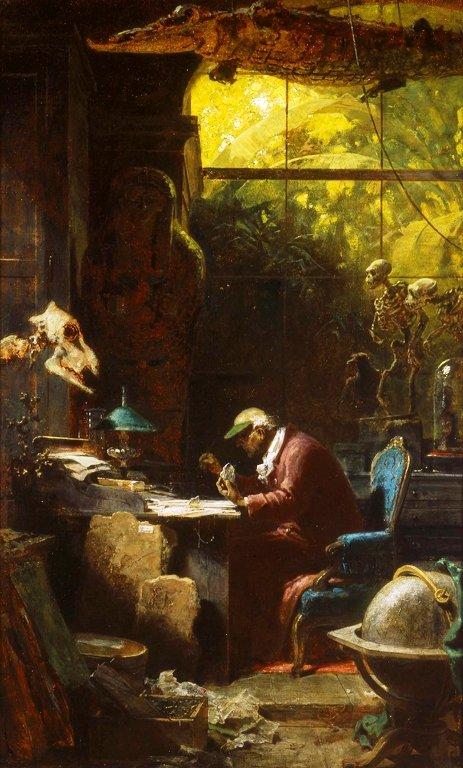 Um estudioso das ciências naturais-por Carl_Spitzweg