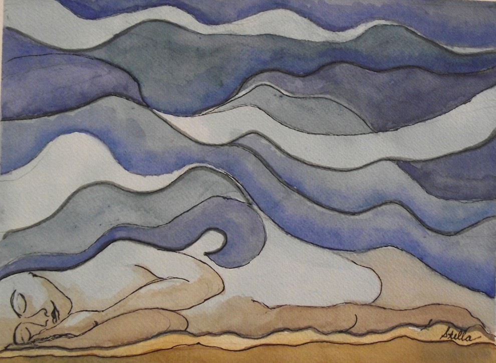 Dream Under a Desert Sky- by visually impaired artist Stella De Genova