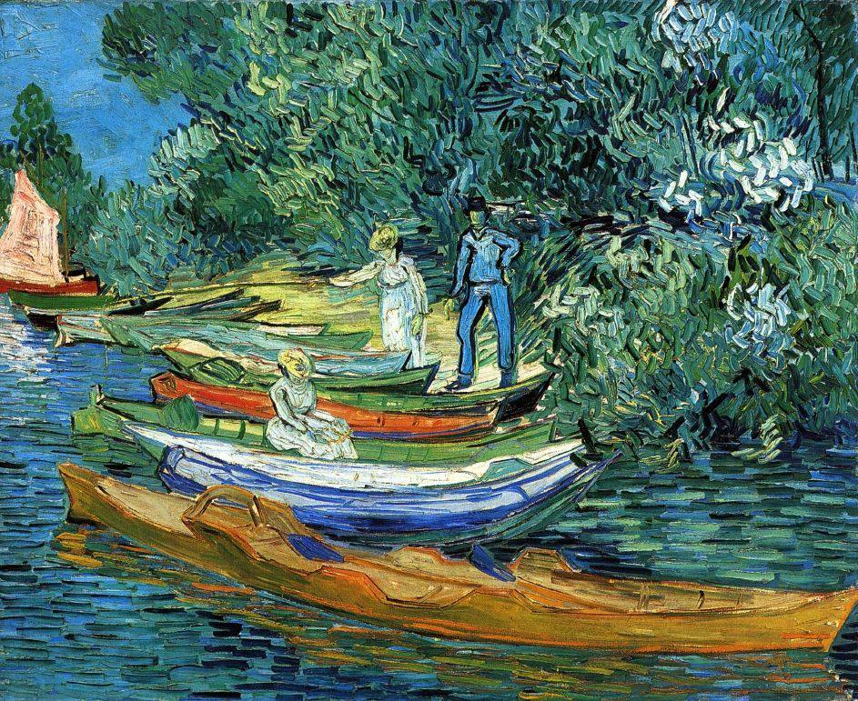 Van Gogh, Bank of the Oise at Auvers, July 1890. Oil on canvas, 73.3 x 93.7 cm. Detroit Institute of Arts, Michigan