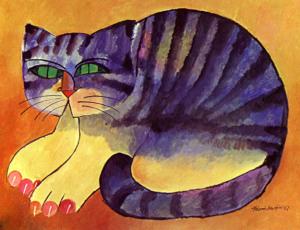 Gato malhado-por Aldemir Martins