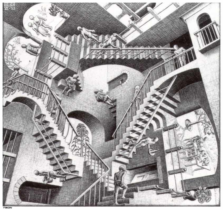 Relativity-by Max Escher