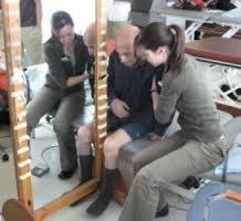 terapia do espelho para paciente com hemiparesia