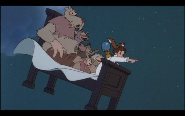 """Figura 4_ """"O pequeno Nemo no País dos Sonhos"""" de Winsor McCay (1871). O personagem criado viaja em uma cama voadora com criaturas fantásticas e desbrava um mundo maravilhoso e completamente caótico. Na animação é nítida a ideia de que tudo o que Nemo vive é apenas fruto de seus sonhos, mas em nenhum momento da trama ele nota a quebra de realidade, assim como nós em um sonho fantasioso. Como uma simulação de realidade pode ser caótica e fantasiosa e não nos darmos conta disso durante o sonho?"""