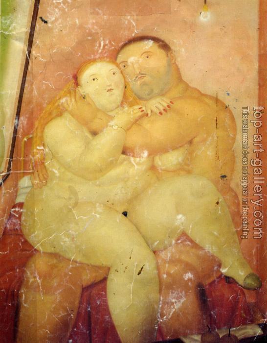 Os amantes-por Fernando Botero