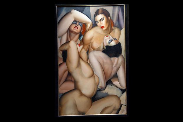 cocaina-tamara-de-lempickas-painting-groupe-de-quatre
