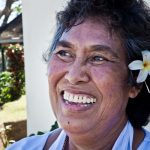 Samoa, Fasotootai community, May 2013. Peati Malaki. HIV +. HIV officer at Red Cross. She is the only person living openly with HIV in Samoa. She runs awareness campaigns in schools and communities.