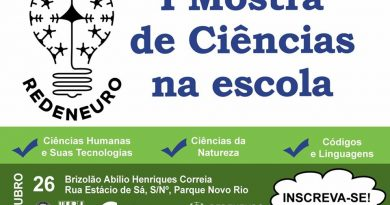 I Mostra REDENEURO de Ciências na Escola – Inscrições prorrogadas até 14/10/2019