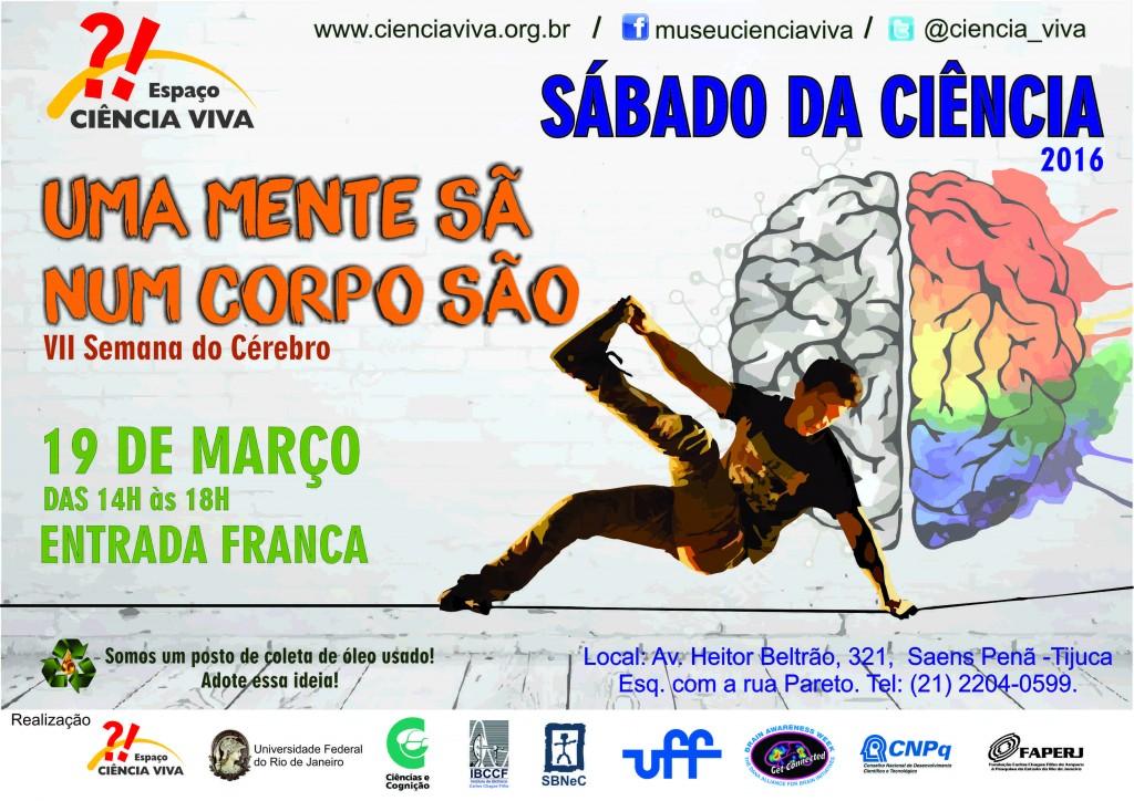 Cartaz Sábado do Cérebro em curvas - A4